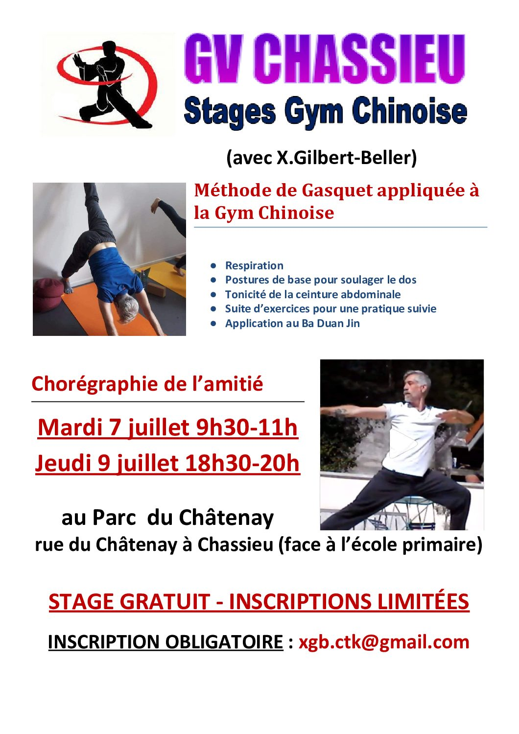 STAGE GYM CHINOISE