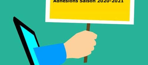OUVERTURE DES INSCRIPTIONS – SAISON 2020-2021 –